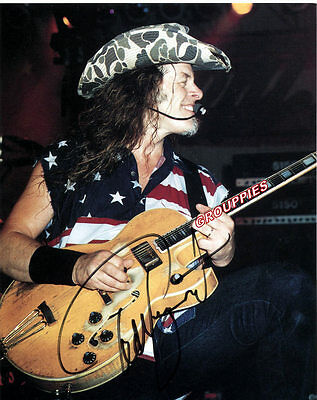 """Ted Nugent SIGNED 8""""X10"""" PHOTO RP"""