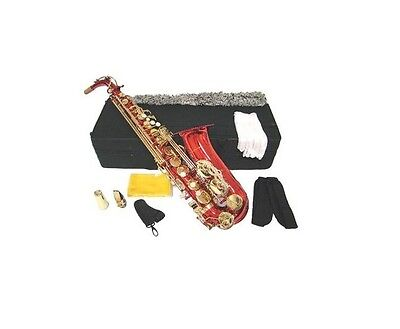 NEW Merano E Flat Red / Gold Alto Saxophone,Case Student Orchestra Beginner Band