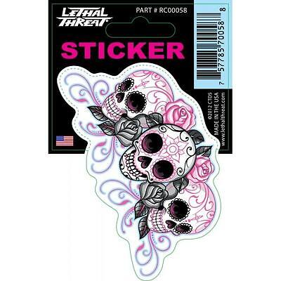 Lethal Threat Sticker Decal Anywhere Motorbike Helmet Boards Tablet IPad RC00058