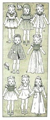 """Vtg 18"""" Shirley Temple Doll Clothes Pattern 454"""