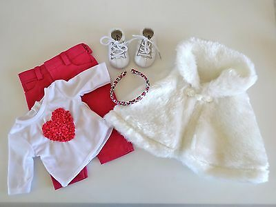 """NEW-DOLL FAUX FUR CAPELET/PANTS/TOP/SHOES Lot #79 fit 18"""" Doll such as AG Dolls"""
