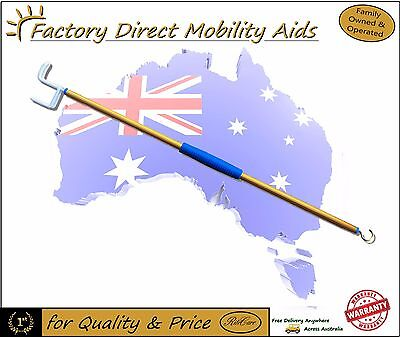 "70cm 28"" Dressing Stick with Zipper Aid hook Free Delivery in Australia NEW"