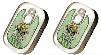 2 PACK Zombie Apocalypse Emergency Survival KIT SARDINE CAN Medical Supplies Aid