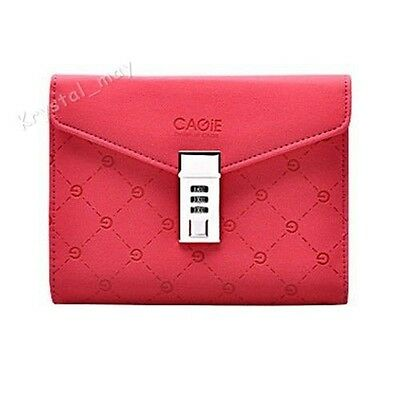 2015 NEW Leather Red Journals Notebooks Secret  Diaries with Lock Password Lined
