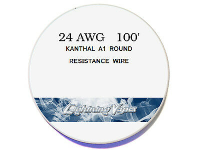 24G Kanthal Wire AWG A1 100' Roll Vapor Supply Coils