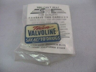 "VALVOLINE RACING ""Say No To Drugs"" Lapel Pin Pinback ~"