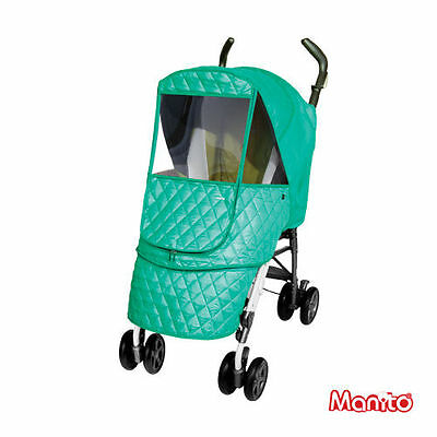 Manito Stroller Weather Shield - Castle Alpha (Blue)