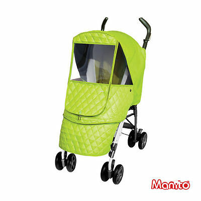 Manito Stroller Weather Shield - Castle Alpha (Green)