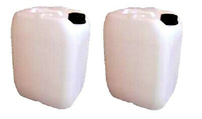 2x25L Litre Plastic Water Storage Container Food Petrol Can Fuel Jerry 25l USED