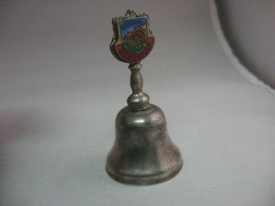 """Rare Vintage GRAND OLE OPRY NASHVILLE ENAMEL TOP Small Metal Bell ~ 3"""" Tall ~"""