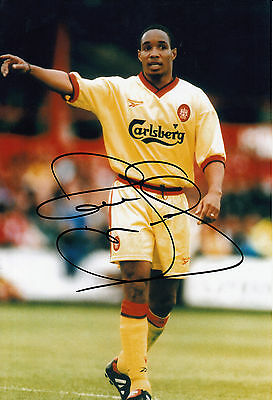Paul Ince Liverpool Hand Signed Photo 12x8.