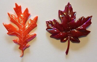 2 ~ Iridescent Harvest Leaves Layons ~ Cake Decoration ~ NEW! - 5728