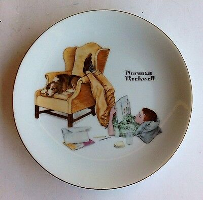 New NORMAN ROCKWELL COLLECTOR PLATE/THE STUDENT/CIRCA 1970