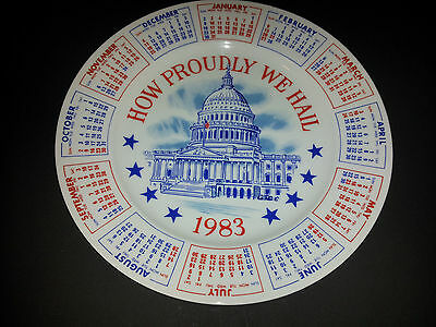 1983 How Proudly We Hail Collectible Plate