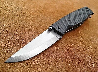 EnZo Birk 75 Black Carbon Fiber  D2 Tool Steel BRI2501 Knife New