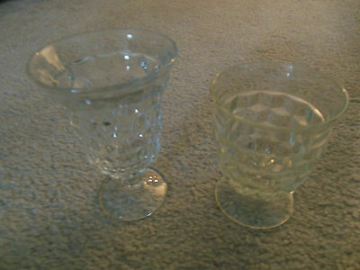 Fostoria American 2056 Pattern Goblet & Juice Glass 2 Pieces