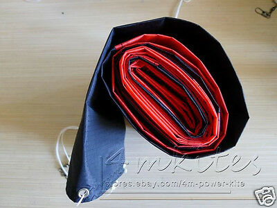 38Ft kite Tube Tail/Outdoor Kite Equipment Accessory/red+black