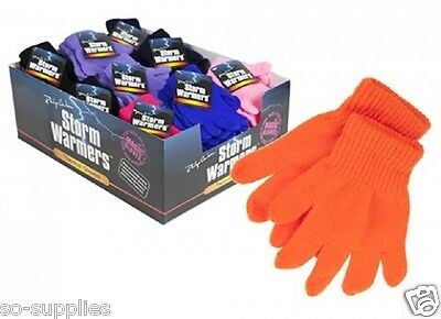 Childrens Magic Gloves Girls Boys Kids Stretchy Knitted Winter Warm Pick Colour