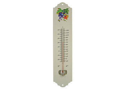 Faithfull FAITHMETAL Thermometer Wall Enamel Metal 300mm