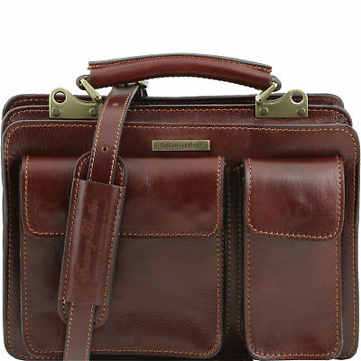TUSCANY LEATHER lady handbag briefcase for women small size made in Italy