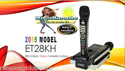 Magicsing 2017 OnStage karaoke ET28KH TAGALOG/ENGLISH 5,145 song 2 wireless Mic