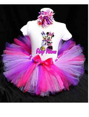 Daisy Duck and Minnie Mouse Tutu Outfit Birthday Custom Any Name