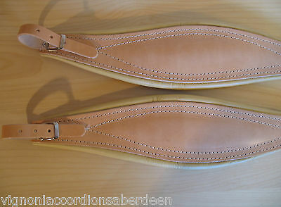 Extra Wide Deluxe Italian Accordion Straps Italcinte 301a ALL natural Leather