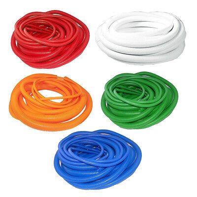 New Split Polypropylene Flexible Conduit Pipe Cable Tidy Various Colours & Sizes