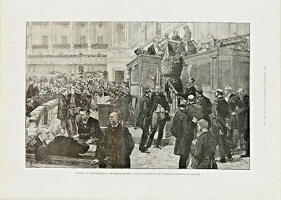 Antique Print - Election of the French Republic -  Dec 17 1887