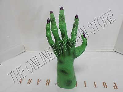 Halloween Haunting Creepy Scary Home Decor Prop Witch Hand Animated Green