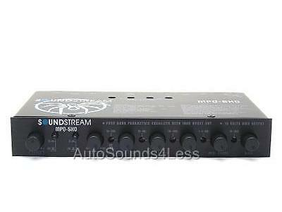 Soundstream Mpq-5Xo 4 Band 6 Channel Eq Crossover Equalizier Subwoofer Control