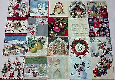 20 paper napkins for decoupage cocktail size 3-ply made in Germany **CHRISTMAS**