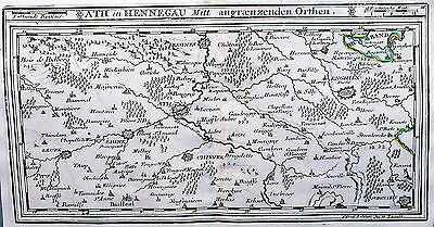 Antique map, Ath in Hennegau