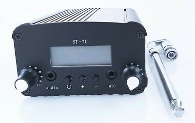 Fshipping!1W/7W ST PLL FM transmitter broadcast radio station +small anenna