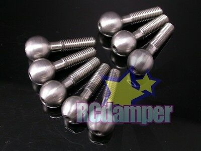 Titanium Pillow Balls For Monster Gt Mgt Or Thunder Tiger Mta4 Mta-4 Knuckle