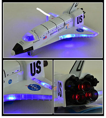 "USA NASA Space Shuttle Discovery COLUMBIA 8"" with Light & Sound Diecast Model"