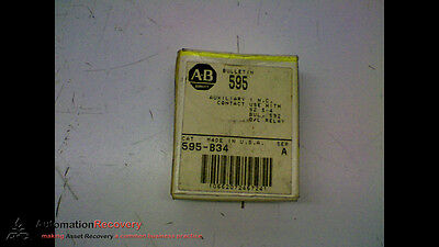Allen Bradley 595-B34 Series A Auxiliary Contact Block, See Desc #157668