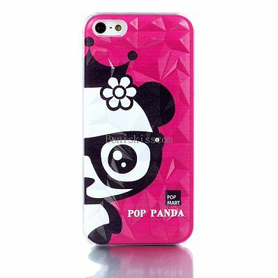 Pop Panda 3D Cute Rhombus Protective Shell Hard Case Cover Skin for iPhone 5 5S