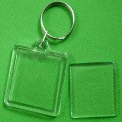 Lot de 1 à 100 Porte-clés Photo Porte Clé plaque Transparent Plastique .