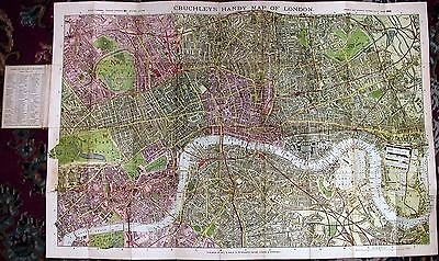 Antique map, Cruchley's handy map of London