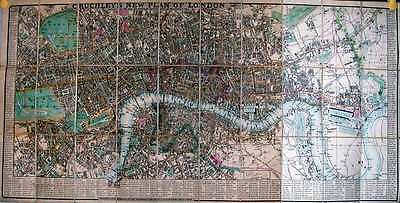 Antique map, Cruchley's new plan of London ..