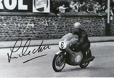 Jim Redman Hand Signed 12x8 Photo Isle of Man TT  1964 Honda.