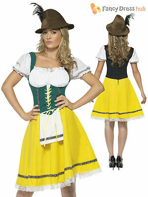 Ladies Oktoberfest Fancy Dress German Bavarian Octoberfest Beer Womens Costume