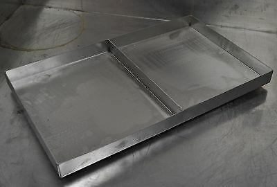 Heavy Duty Stainless Steel Custom Tray Pan Griddle Steam Table Grill 2 sections