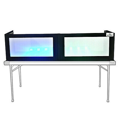 "Grundorf GS-LSB1652T 16"" x 52"" G-Screen Table Top Black Lycra LED DJ Facade"