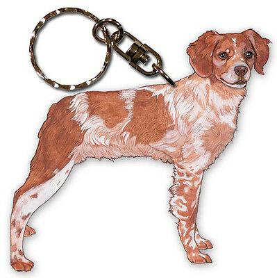 Brittany Keychain Wooden Key Ring