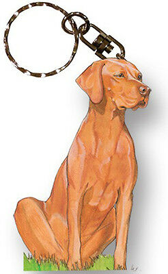 Vizsla Keychain Wooden Key Ring