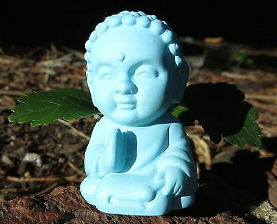 Blue Pocket Buddha - Harmony Saying - Buddhism Figurine Toy Statue