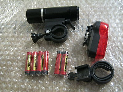 Raleigh RX1.0 Front and Rear Bike Cycle Light Lights Set LAA991 Free Batteries
