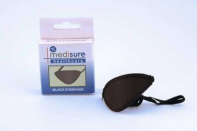 Protective Eye Shade Shield Patch Black - Medical Elasticated First Aid